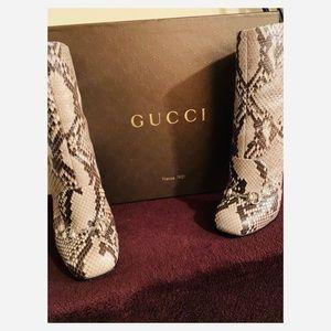 Gently used Gucci snake skin booties. Season 2015